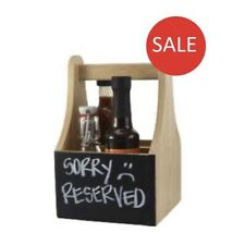 SALE Wooden Cutlery Condiment Holder Table Caddy With Chalkboard 2 Compartments