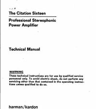 Harman KARDON Service Manual per Citation SIXTEEN 16