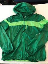 Brooks Shelter Hooded Full Zip Windbreaker Running Ultralight Vent Green TS9