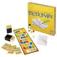 Neu Deutsch Sprache Pictionary Familie Brettspiel Mattel Offiziell