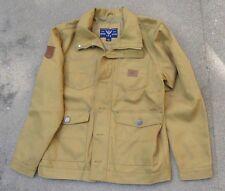 mens TFG tan nylon duck  jacket  size Large