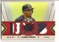 Desmond Jennings 2012 Topps Triple Threads Triple Patch True 1/1