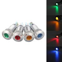 Car Metal Indicator Light Bulbs 12V 8mm LED Dash Dashboard Panel Warning Lamp UK