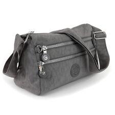 Umhängetasche Nylon grau sportliche Damen Handtasche Bag Street OTJ229K