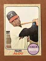 1968 Topps Felipe Alou Card #55 NM-MT Atlanta Braves
