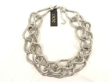 Trendy New Silver Mesh Chain Necklace from Cache With $58 Tags #N1045