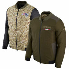 NEW ENGLAND PATRIOTS 2017 NFL Salute to Service Nike Reversible Bomber Jacket XL