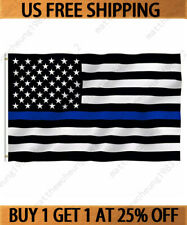 3x5' ft USA Thin Blue Line Police Lives Matter Law Enforcement American US Flag