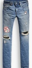 Levis 511 Slim Fit Broken Record Destroyed RARE Jeans 34 x 30 Chinese New Year