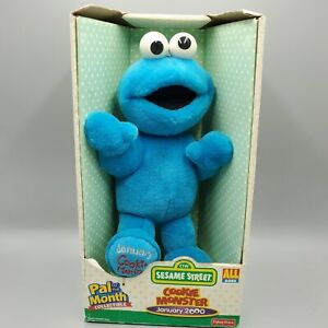 Cookie Monster Plush Doll Sesame Street Fisher Price 12 inch Pal of the Month
