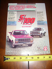 1984 DODGE RAM TRUCK RAMCHARGER 4X4 - ORIGINAL AD