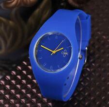 Montre CMK Quartz Sport Bracelet Silicone Femme Homme Enfant Bleu
