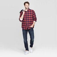 NWT Mens X Large XL Goodfellow & Co Standard Flannel 1 Pocket Button Down Shirt