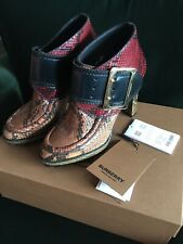 New Burberry Runway Python Snakeskin Leather Shoe Boots Size 41 Uk 8