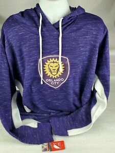 Orlando City SC Majestic Women's Size XXL Contrast Heathered Pullover Hoodie New