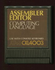 ASSEMBLER EDITOR Cartridge ATARI 400 800 XL XE Video Game WORKS W/Screen Shots