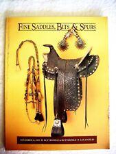 Fine Saddles, Bits, Spurs, Western Americana, Cowboy, Catalog Book