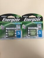 2 x 4 Pack Energizer Aaa Rechargeable Batteries Total Of 8
