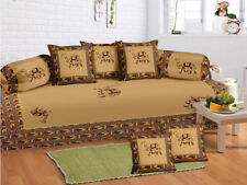 Indian Embroidered Boho Diwan Set Diwan Cover Cushion Covers Bolster Covers New