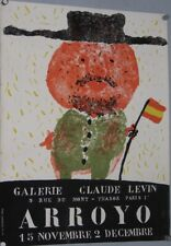 ARROYO  Expo  Galerie Claude Levin  65 x 51 cm imp Claude Guillard  etat A-