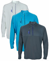 Adidas Golf Men's TaylorMade Mixed Media 1/4 Zip Up Pull Over Sweater Shirt