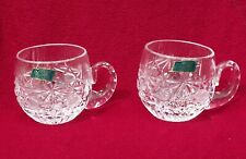 2 ~ Vintage Violetta Hand Cut 24% Lead Crystal Cups ~ Made In Poland