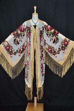 Art To Baby Golden Butterfly Burnout Velvet Fringe Jacket Coat Duster Kimono