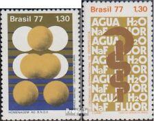 Brasilien 1602,1607 (kompl.Ausg.) postfrisch 1977 Entwicklungsbank, Zahnheilkund