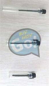 50 EMPTY SMALL GLASS PERFUME SAMPLE VIAL BOTTLE 1ml 2ml 3ml black/white cap