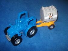 Lego Duplo Ville Bauernhof 1 X Traktor Blau aus 4665 Milchanhänger Grau Milch