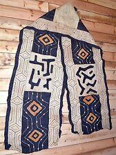 Long Kuba Cloth African Art Traditional Raffia Textile Plant Fiber Fabric, Congo