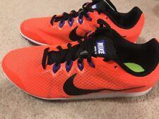 NWOB Nike Zoom Rival D 9 Distance Track Spike Men's 13 Orange Black
