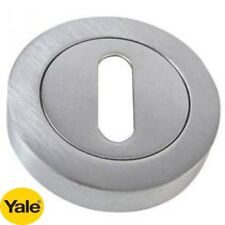 YALE PREMIUM ESCUTCHEONS KEY HOLE KEYHOLE BRUSHED CHROME FINISH - NEW