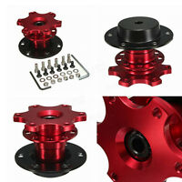 Universal Car Steering Wheel Quick Release Hub Adapter Snap Off Boss Kit Red
