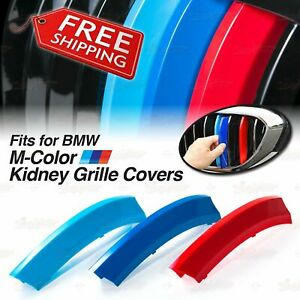 M-Tech Sport Kidney Grille 3 Colour Cover Insert Clips for BMW *ALL Series HERE*