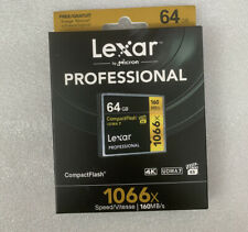 Professional 64GB Compact Flash Memory Card 1066x UDMA7 VPG-65 160MB/s For Lexar