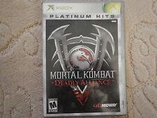 Mortal Kombat: Deadly Alliance Platinum Hits (Microsoft Xbox, 2003)