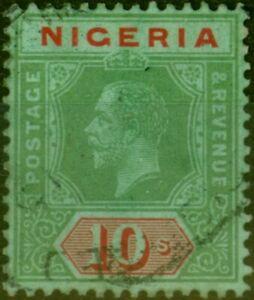 Nigeria 1921 10s on Emerald SG11d Fine Used