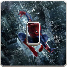 Marvel Spiderman City Light Switch Vinyl Sticker Decal for Kids Bedroom #352