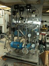 Aerosol Gel Pumping Mixing Process Filling Plant On Skid