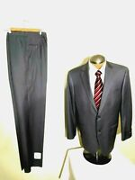 Hart Schaffner Marx Mens Suit 2 Button 42R Gray Pants 35x38 New With Blemishes