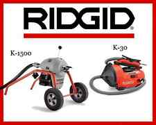 Ridgid Auto-Clean K-30 Sink Machine 34963 & Ridgid K1500 Sectional Machine 23707
