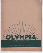 Programme OLYMPIA Théâtre Jacques Haïk ROME EXPRESS Conrad Veidt JOHN BARRY 1933
