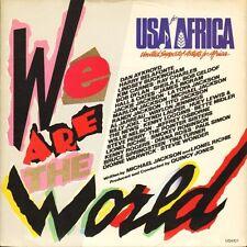 "EE. UU. para África somos el mundo/Quincy Jones Grace USAID 1 Reino Unido CBS 7"" PS EX/EX"