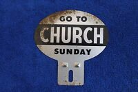 Go To Church Sunday License Plate Topper Badge Accessory Grille Clergy