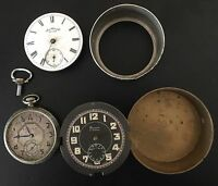 Antique lot of 3 pocket watches for parts or repair