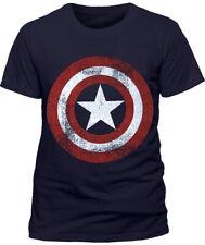 Marvel Captain America Superhero T-shirt Official Distressed Shield Design Mens 2xl