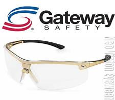 Gateway Ingot Gold Frame Clear Lens Safety Glasses Shooting Z87+ CSA Z94.3