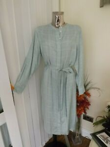 M&S AUTOGRAPH IVORY & BLUE GREEN SHIRT DRESS SIZE 14 LADIES BNWT RP £59