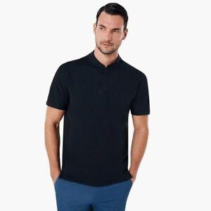 OAKLEY - Engineered POLO Bomber Collar MENS Golf Shirt - Black - Small S - S.I